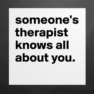 The therapeutic thing about therapy!